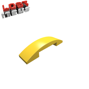 NOUVEAU 4 X Lego Dachstein Arc en Forme 4 x 1-Jaune 93273