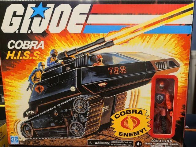 **NEW IN BOX** GI Joe Retro Cobra HISS Vehicle Tank With Figure