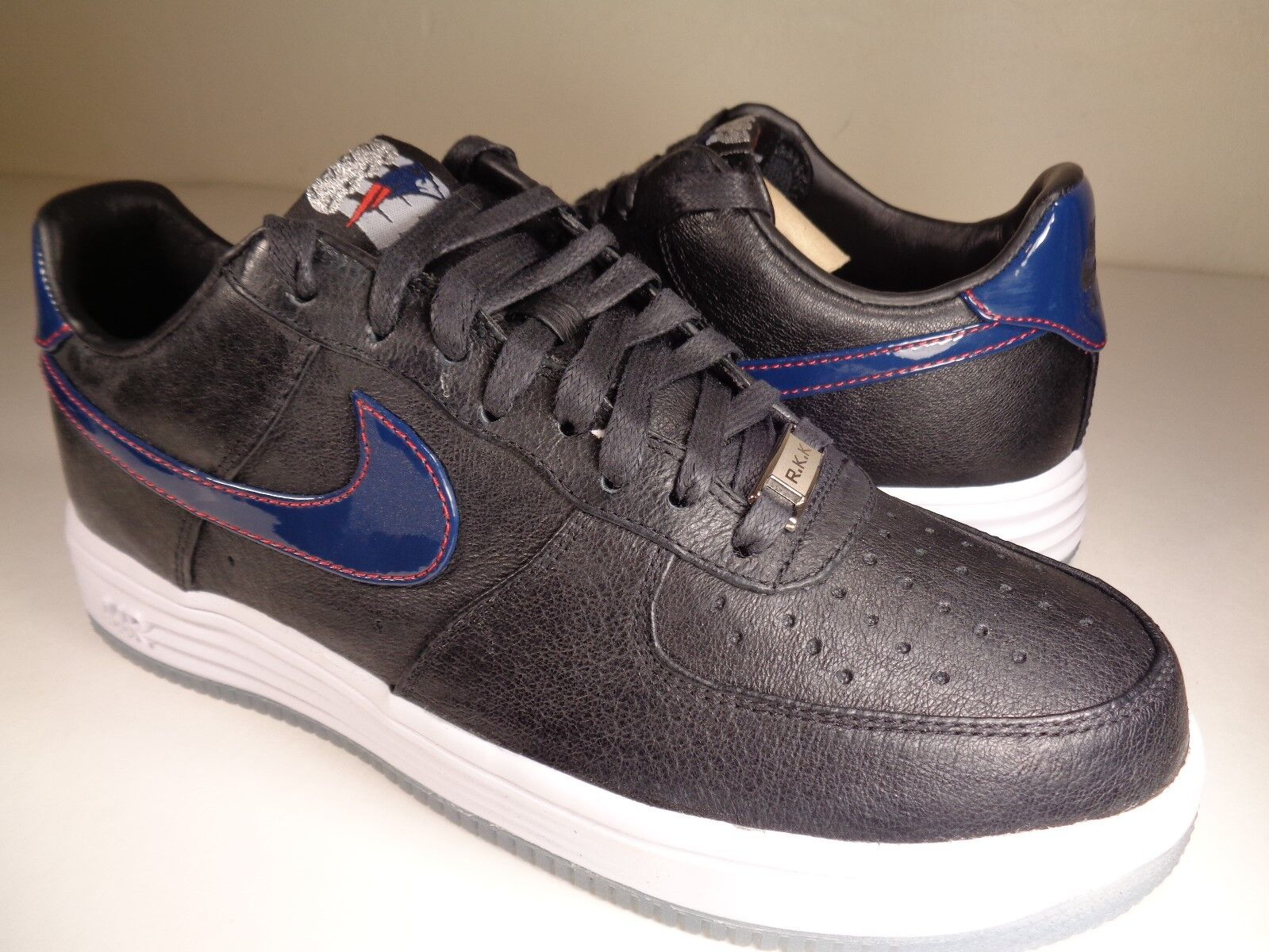 Nike Lunar Force 1 1 1 PF QS nero Patriots Navy Robert Kraft SZ 7.5 (836341-001) e9c9a2