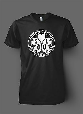 Womens NORTHERN SOUL T-Shirt Keep the Faith British Mod Soul Music Wigan Casino