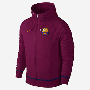 Details about NIKE FC BARCELONA AW77 COVERT FULL ZIP HOODIE Dynamic BerryUniversity Gold