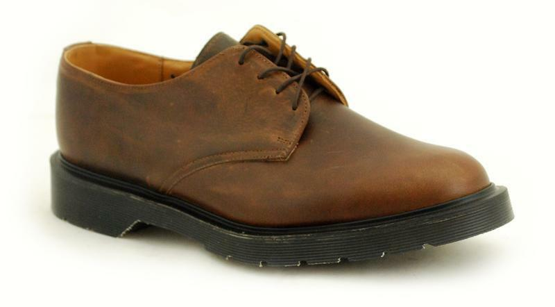 Solovair NPS shoes Made in England 4 Eye Gaucho shoes S049-L4995GAU