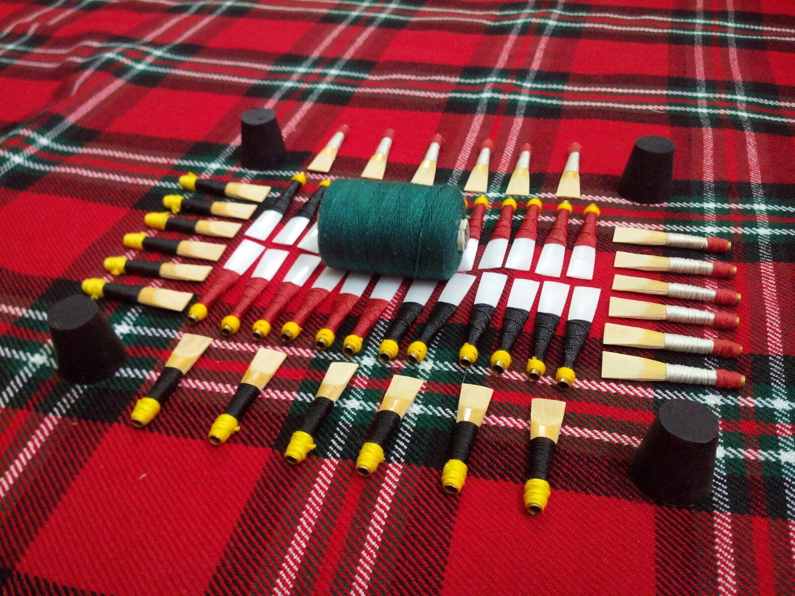 TC Scottish Highland Dudelsack Stock Schlifgras Hanf Korken Practice Chanter