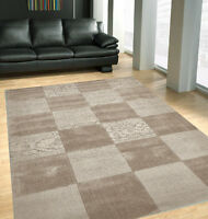 Nz-wool Timeless Taupe Floor Rug Boxes Hand-made Modern Rug Carpet
