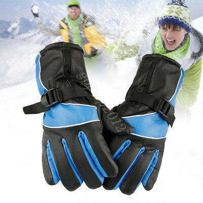 Electric Outdoor Motorcycle Heated Gloves Warmer Hands + 2 Rechargeable Battery