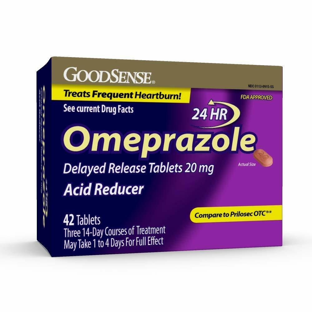 Omeprazole Delayed Release 20 mg |  42 Count Tablets | Acid Reducer 3