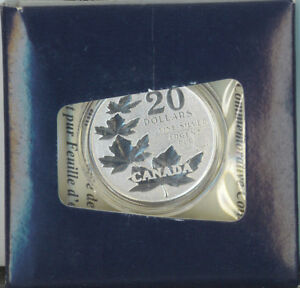 Canada-2011-20-Fine-Silver-Commemorative-Maple-Leaf-Coin-20-for-20-SCARCE