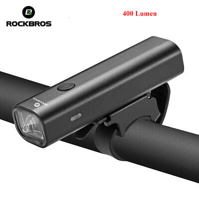 RockBros Bicycle Light Head /& Tail Light Set USB Rechargeable LED 100 Lumens