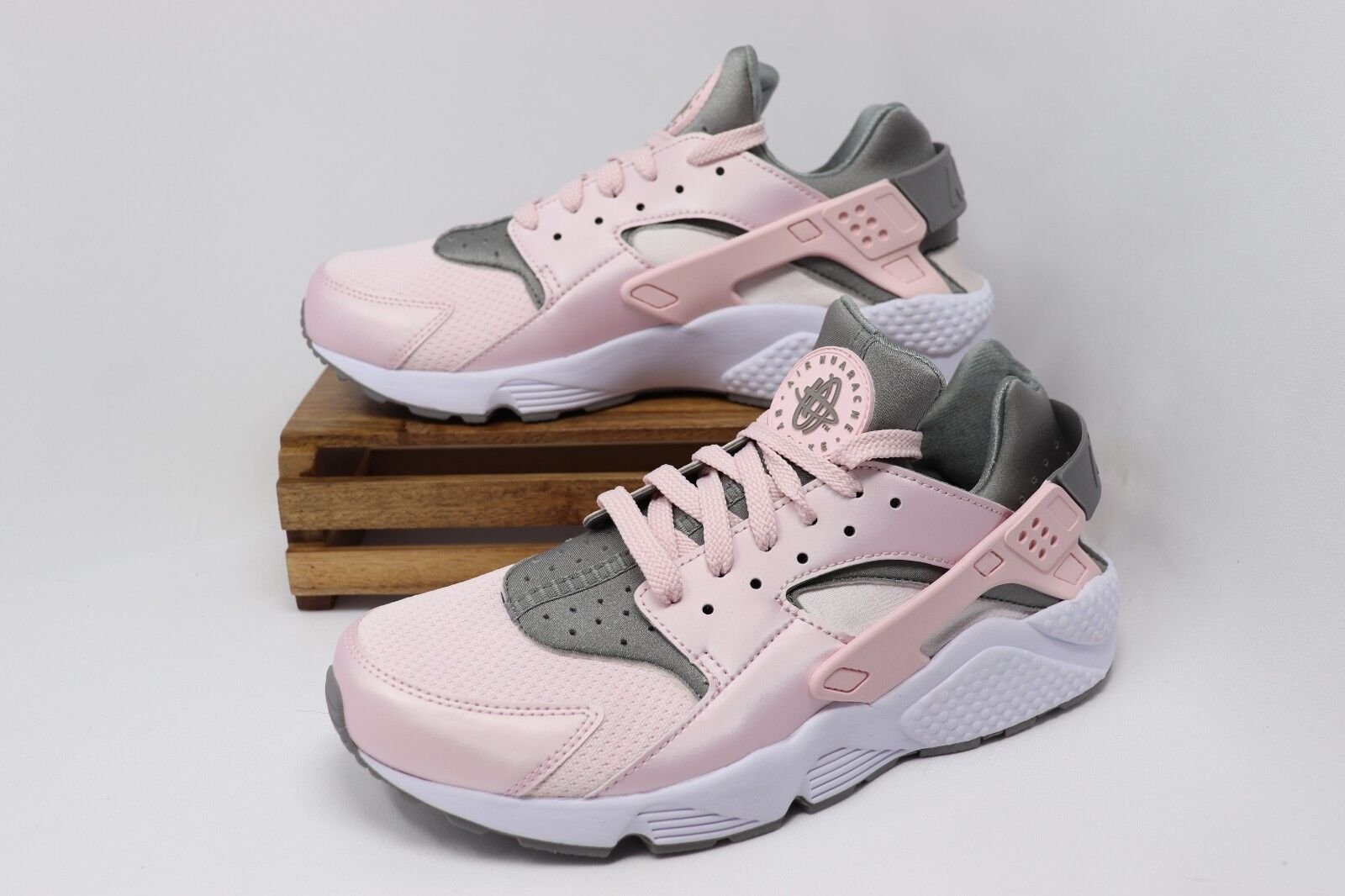 Nike Air Huarache Running shoes Arctic Pink Dusty White 318429-610 Men's NEW