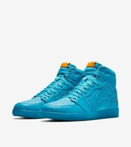 83cf95f9953 AIR JORDAN I (1) COOL BLUE RETRO HIGH OG GATORADE PACK NIKE + Towel ...