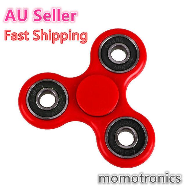 Red Tri-Spinner 3D Fidget Hand Finger Spinner EDC Desk Focus Toy Stress Relief