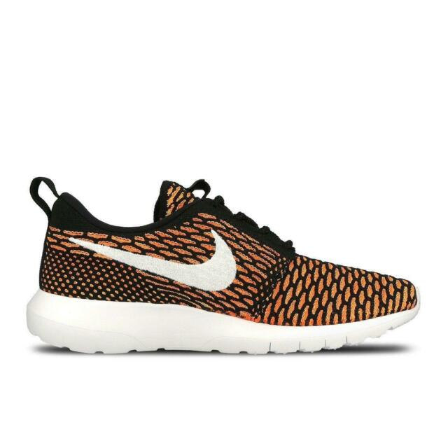 best service f5209 8ce8d Mens NIKE ROSHE NM FLYKNIT Black Textile Trainers 677243 018