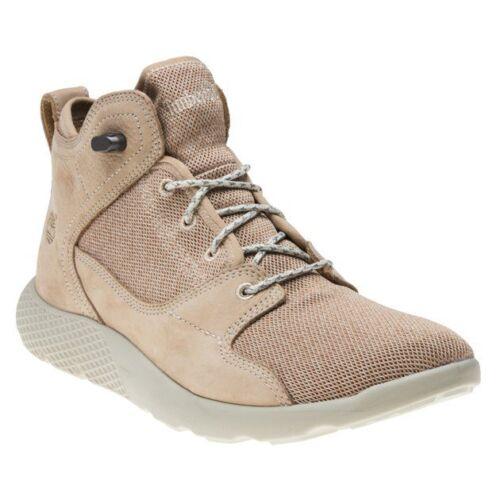 New Mens Timberland Tan Flyroam Leather Hiker Nubuck Boots Chukka Lace Up