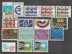 s37095  DEALER STOCK EUROPA MNH** 1979 Parlamento Europeo 16v (x10 sets)