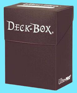 Ultra-Pro-DECK-BOX-BROWN-Card-Holder-Standard-amp-Small-Size-NEW-Storage-Case-MTG