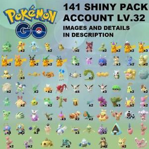 Pokemon-Go-SHINY-x141-Account-PIKACHU-HAT-LUCARIO-RAYQUAZA-UMBREON-CHARIZARD