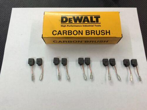 10 Brushes 650917-01  D28114  D28 000 Series DeWalt Grinder Motor Brush 5 Sets