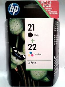 Genuino-Original-HP-21-los-cartuchos-de-tinta-de-color-negro-y-22-C9351AE-C9352AE-SD367AE