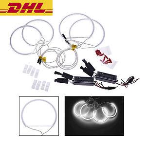 4X-CCFL-Angel-Eyes-Kit-Standlichtringe-Weiss-fuer-BMW-E36-E38-E39-E46-Projektor