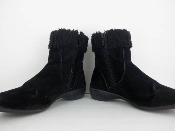 Black Faux 6 Suede Ankle Boots Womens 6 Faux M Kim Rogers Kelli b819e3