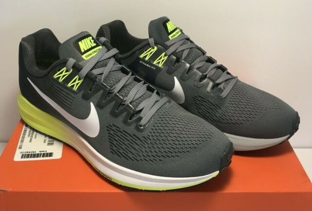 df33a3195da51 Nike Mens Size 8 Air Zoom Structure 21 Running Cool Grey White Shoes 904695  007