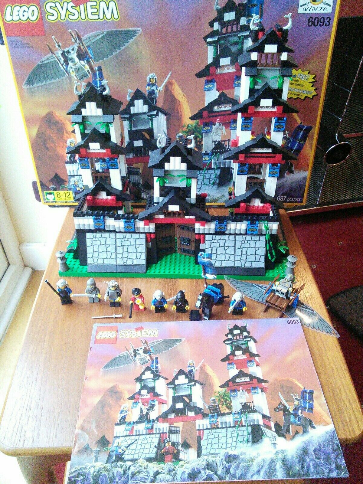 LEGO - Flying Ninja's Fortress - 6093 - 100% Complete & Boxed -  1998