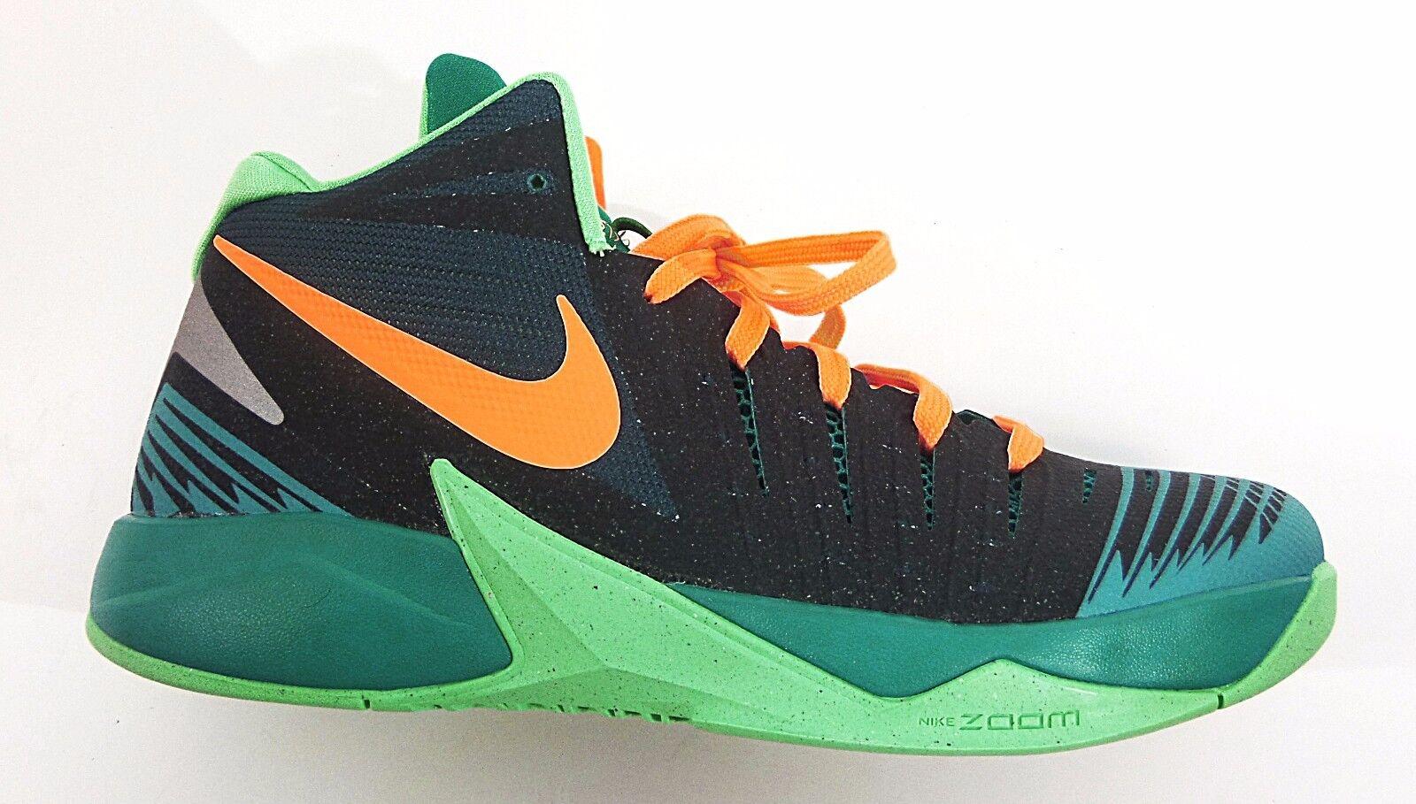 Nike Uomo ZOOM I GET BUCKETS Shoes Mango/Green 643300-300 a1