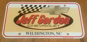Jeff Gordon Chevrolet Wilmington N C Plastic Dealership License Plate Ebay