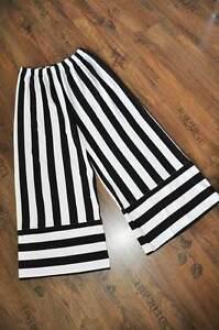 Black Lagenlook Marlène Pantalon À Avec Jersey Approche Rayures Larges white aOTaq