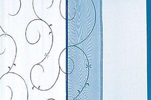 2-Schiebevorhaenge-Schiebepaneele-Raumteiler-Ranke-weiss-blau-Stickerei-B-H-45x245