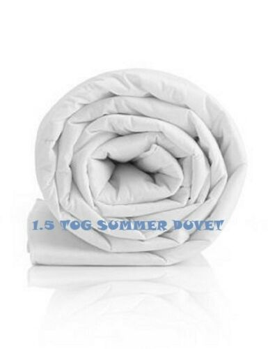 Hotel Quality SUMMER COOL Duvet 1.5 TOG 100/% Soft Touch Microfibre Cover New