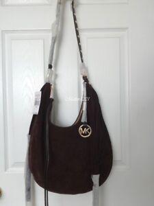 9d21186c1b67 NWT Michael Kors Rhea Large Slouchy Shoulder Bag Coffee 888235576695 ...