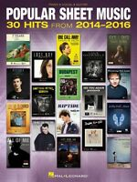 Popular Sheet Music 30 Hits From 2014-2016 Piano Vocal Guitar Songbook 000174335