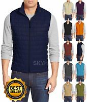 Mens Padding Vest Quilted Zipper Casual Super Lightweight S-xl Outdoor Sports