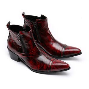 Stiefeletten Punk Westernstiefel Cowboystiefel S65 Stiefel Leder Zu Details Rock Reitschuhe v0m8Nnw