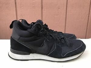 huge selection of 0807d 6490e ... nylon mesh suedeblue yellow white 2f791 91e15  buy image is loading nike  wmns internationalist mid 683967 006 black anthracite cfa42 897ae