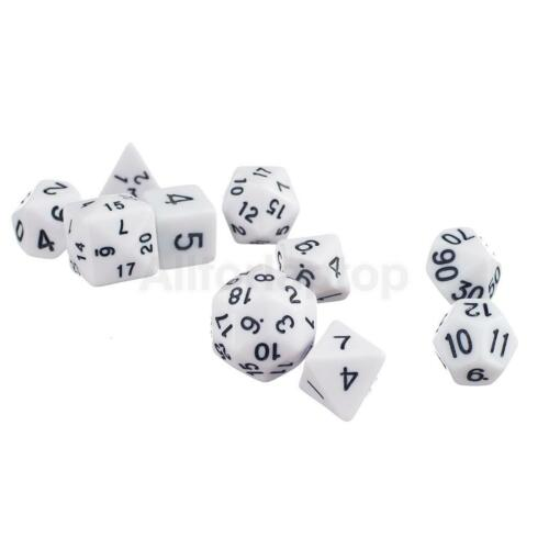 10pcs Spielewürfel Zahlenwürfel D4-d30 seitige Würfel Dice für Spiel Party