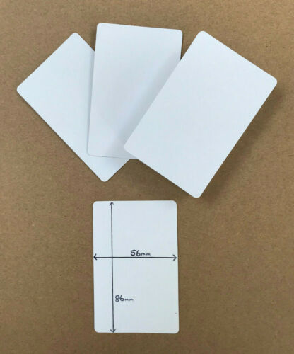 5.6 x 8.6cm 50 x brand new BLANK playing cards flash card blank BOTH on sides