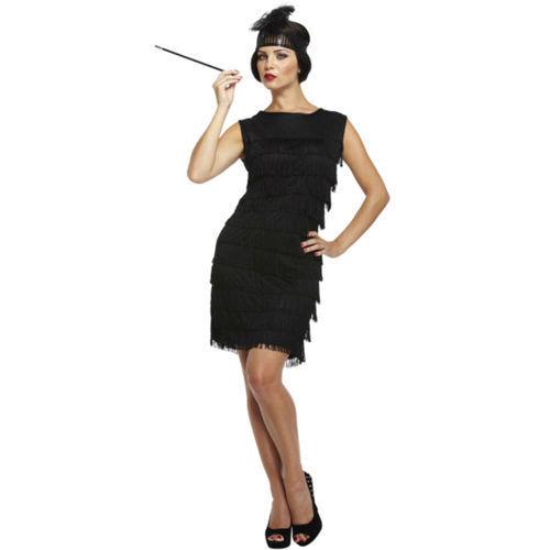 Costume donna 1920/'s anni 1920 20 CHARLESTON Costume DRESS Hen Night