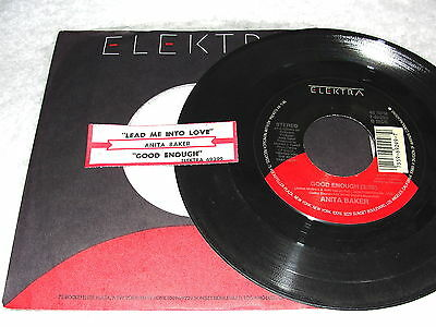 "+jukebox Title Strip Elegant Shape 7"" Anita Baker ""lead Me Into Love Good Enough"" 45 Rpm"