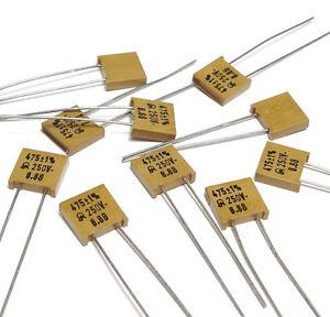 High-End Mica Capacitor 250 Volt 1 /% 10x Jahre Glimmer-Kondensator 357 pF