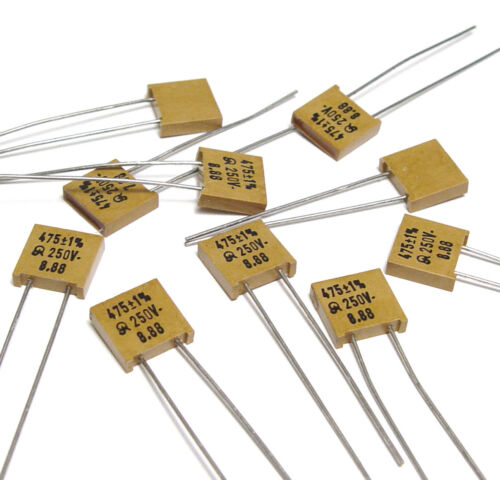 10x ans MICA-Condensateur 475 pf//1/%//250 volts High-End Mica Capacitor