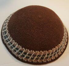Frik Kippah Jewish Hand Knit Yamaka Freak Design Kippot Jewish Beanie Judaica crochet Yarmulkah Jewish cap from Israel Kipa cap 12x21cm