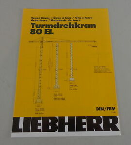 Data Sheet / Technical Description Liebherr Tower Crane 80 El From 03/2001