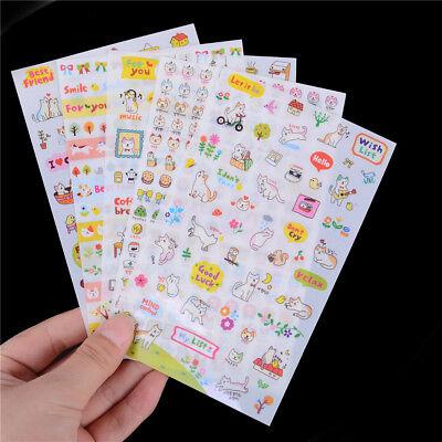 6 Sheets Animal Cat DIY Bubble Stickers Cartoon Kids Stickers Toys PVC StickerSC