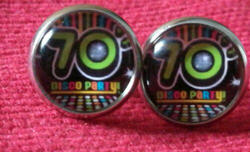 70s Earrings studs disco party 70s Dress 1970s Hen Festival Fancy Dress Costume