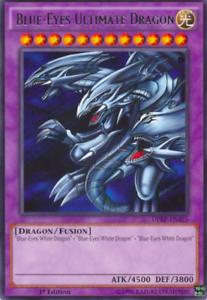 Rare 1st Edition yugioh 1X NM Blue-Eyes Ultimate Dragon DPRP-EN025