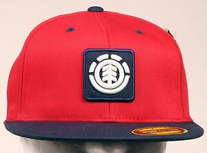 Image is loading ELEMENT-FENWICK-RED-MEN-SKATEBOARD-NEW-FITTED-HAT- c0b6bec202a