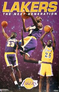 a6235a69244 Los Angeles Lakers NEXT GENERATION 1995 POSTER - Van Exel, Ceballos ...