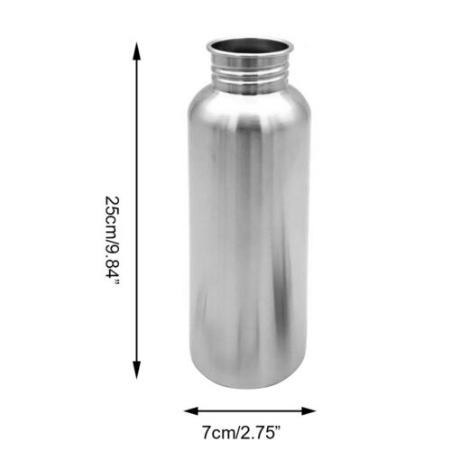 Stainless Steel Water Bottle Single Walled Vacuum Insulated Sports Metal Flask